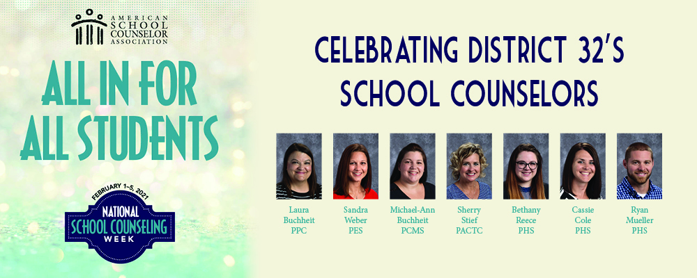 D32 celebrates counselors during National School Counseling Week, Feb. 1–5, 2021