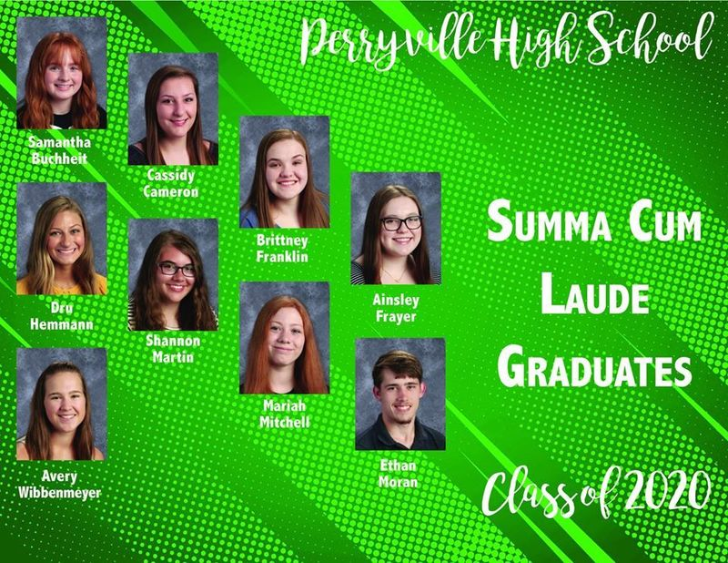 Perryville High School's Summa Cum Laude Graduates